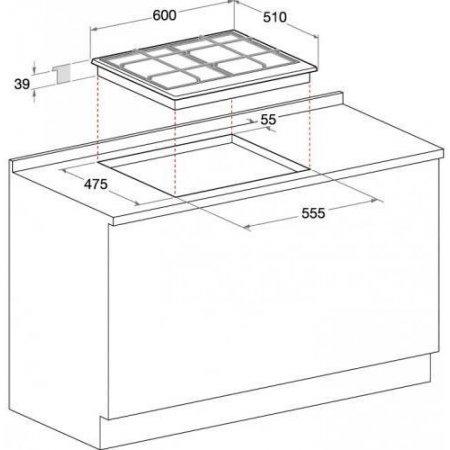 Hotpoint Piano cottura a gas - ariston - Pcn640tavrha