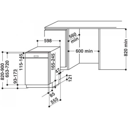 Hotpoint Lavastoviglie incasso 13 coperti - ariston - Hb 4010 B