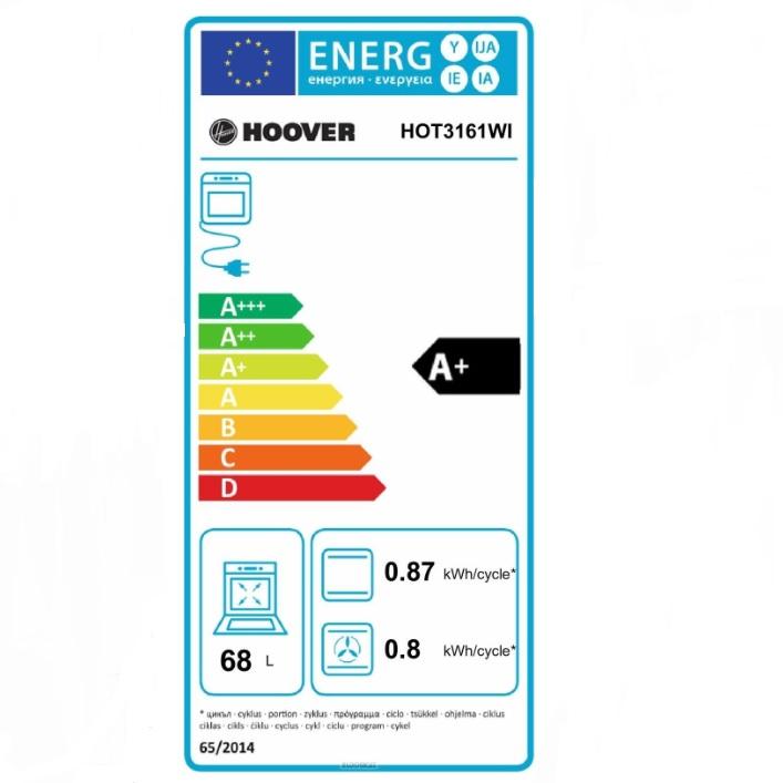 Hoover Incasso Forno elettrico 2100 w - Hot3161wi