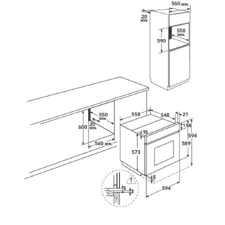 Aeg Forno elettrico multifunzione pirolitico da incasso - Bp730302im