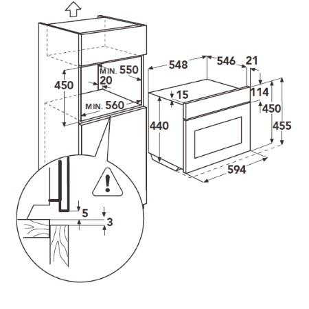 Aeg Forno elettrico multifunzione compatto da incasso - Ke5404121m