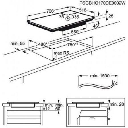 Aeg Piano cottura ad induzione - Ikb84443xb