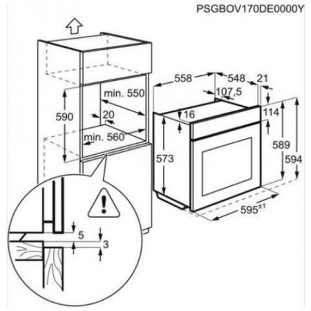 Aeg Forno elettrico 2400 w - Bse571222m
