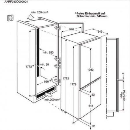 Aeg Frigo combinato 2 porte ventilato - Scb81826ts