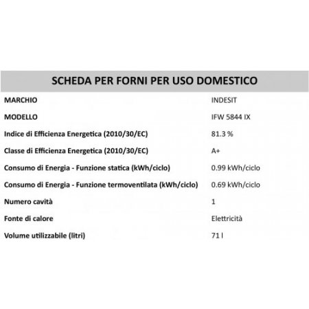 Indesit Forno elettrico 2900 w - Ifw5844ix