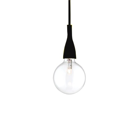 Ideal Lux Lampada a sospensione - Minimal Sp1 Nero - 009407