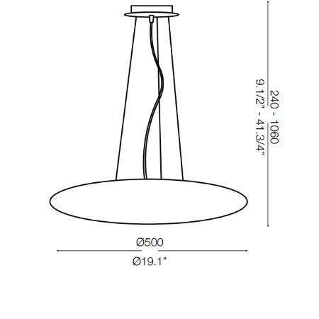 Ideal Lux - Smarties Sp3 D50 Bianco
