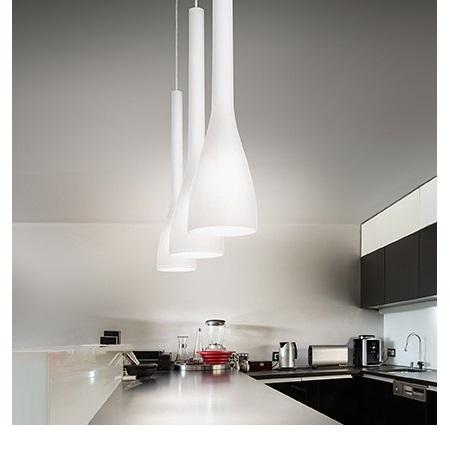 Ideal Lux Lampada a sospensione - Flut Sp1 Small Bianco