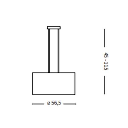 Ideal Lux Lampada a sospensione - Wheel SP5 - 009698