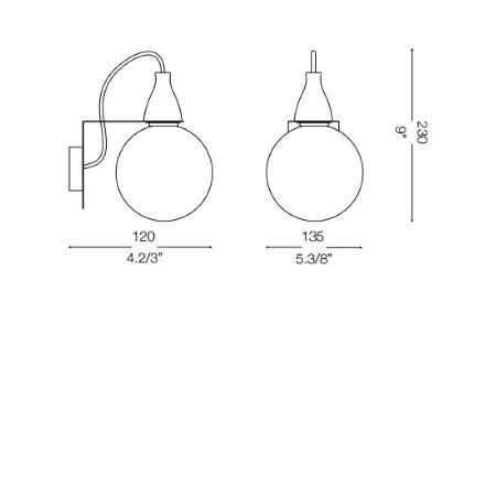 Ideal Lux Lampada da parete - Minimal Ap1 Bianco