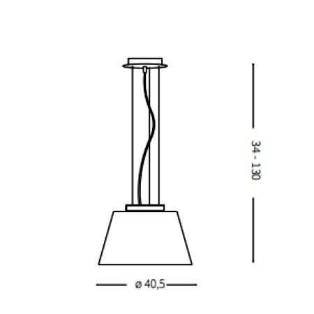 Ideal Lux Lampada a Sospensione - Cylinder SP1 D40 - 025438