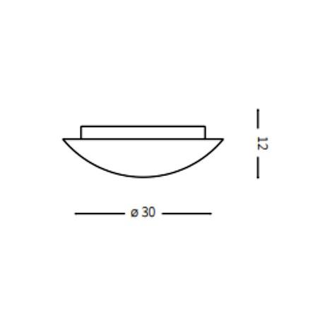 Ideal Lux Plafoniera - Simply PL2 - 007977