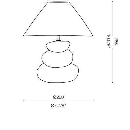 Ideal Lux Lampada da tavolo - K2 Tl1 Bianco