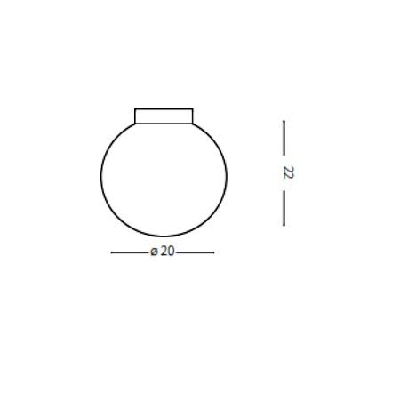 Ideal Lux Lampada da parete - Mapa AP1 Bianco - 059815