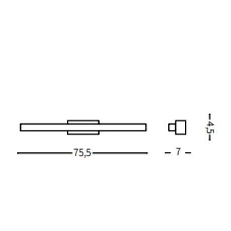 Ideal Lux Lampada da parete - Linea AP84 Cromo - 031491