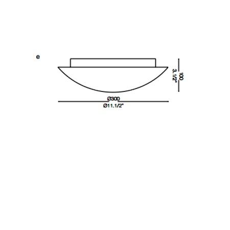 Ideal Lux Plafoniera a parete o soffitto - LANA PL2 - 068138