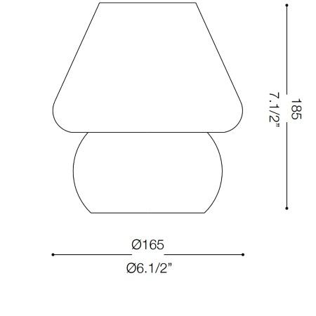Ideal Lux Lampada da tavolo - Prato Tl1 Small - 074726
