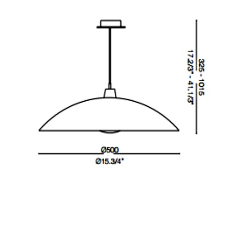 Ideal Lux Lampada a sospensione - LANA SP1 D50 BIANCO - 068169