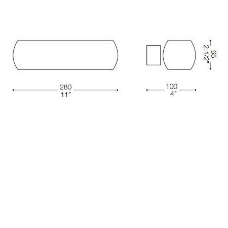 Ideal Lux Lampada da parete - Moris Ap2 Bianco - 034546