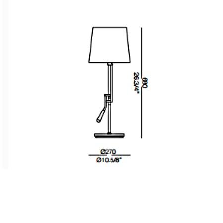 Ideal Lux Lampada da tavolo - REGOL TL1 BIANCO 14616