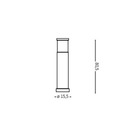 Ideal Lux Palo da esterno - Tronco PT1 Big antracite - 026992