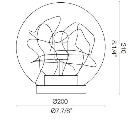 Ideal Lux Lampada da tavolo - Mapa Max Tl1 D20