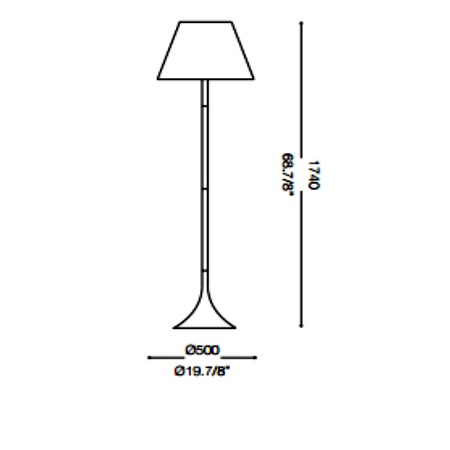 Ideal Lux Lampada da terra - LONDON PT1 NERO 110240