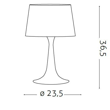 Ideal Lux Lampada da Tavolo - LONDON TL1 SMALL BIANCO - 110530
