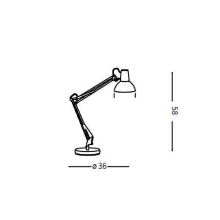 Ideal Lux Lampada da tavolo - Wally TL1 Nero - 061191