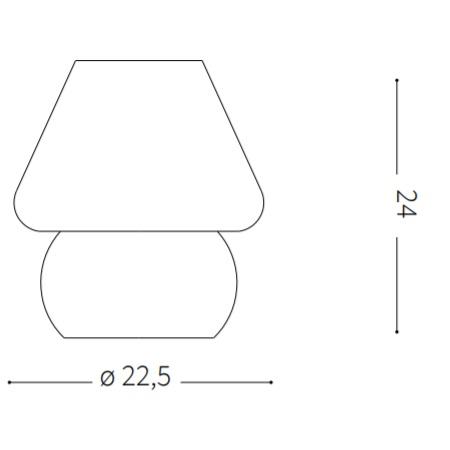 Ideal Lux Lampada da tavolo - Prato TL1 Big - 074702