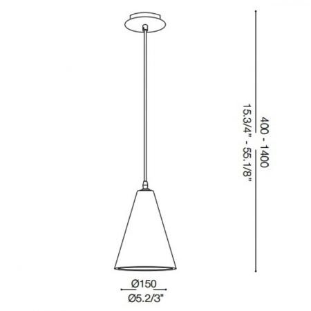 Ideal Lux Lampada a sospensione - Oil2 SP1 - 110424