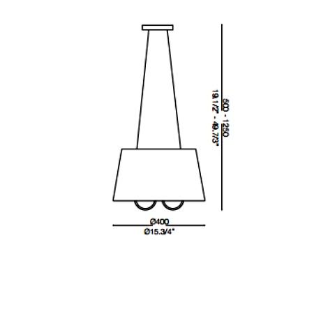Ideal Lux Lampada a sospensione - LE ROY SP3 079387