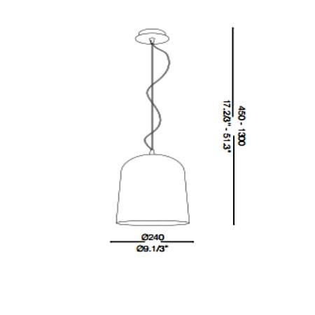 Ideal Lux Lampada a sospensione - BISTRO' SP1 SQUARE 112305
