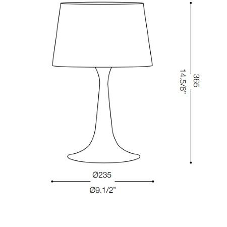 Ideal Lux Lampada da tavolo - LONDON TL1 SMALL NERO 110554
