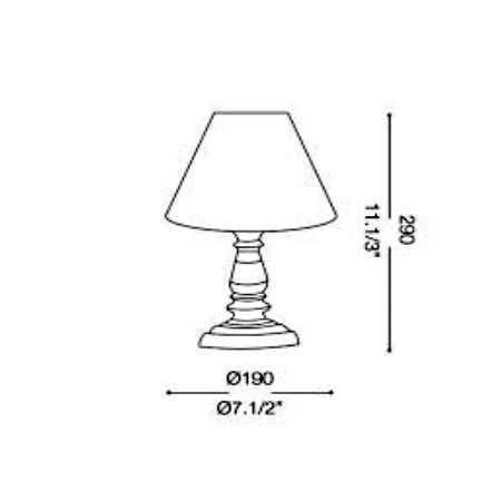 Ideal Lux Lampada da tavolo - PROVENCE TL1 SMALL 003283