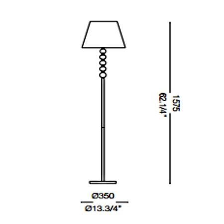 Ideal Lux Lampada da terra - LE ROY PT1 073392