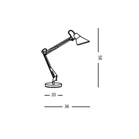Ideal Lux Lampada da tavolo - Sally TL1 Nero - 061160