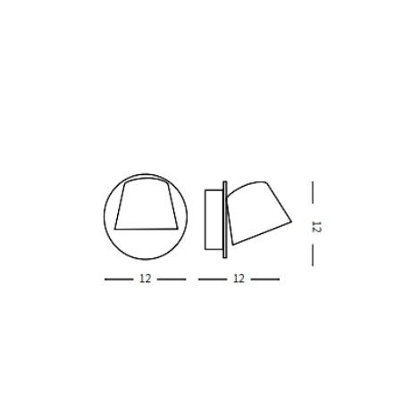Ideal Lux Lampada da parete - Gim AP1 Nero - 167121