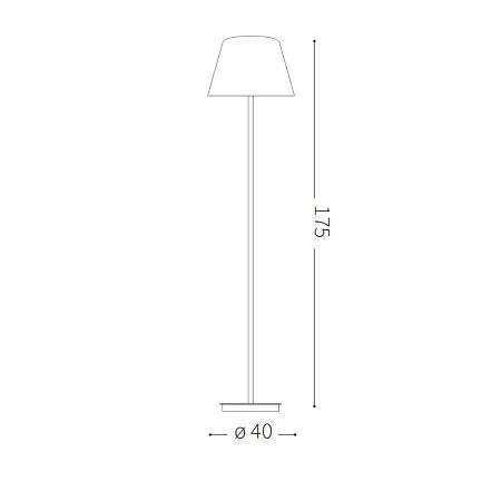 Ideal Lux Lampada da terra - Cylinder PT2 - 111452