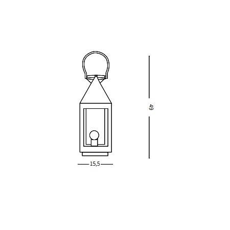 Ideal Lux Lampada da tavolo - Mermaid TL1 Small - 166742