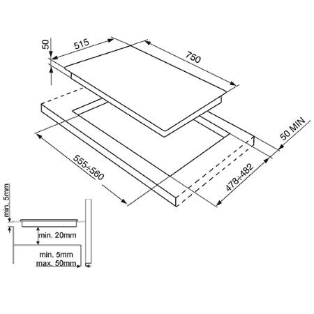 Smeg Piano cottura ad induzione in vetroceramica - SI5741D