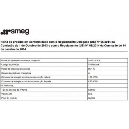 Smeg Forno elettrico 3000 w - Sf64m3dx