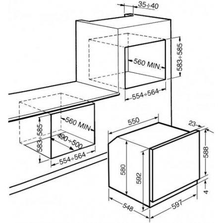 Smeg Forno elettrico 3000 w - Sf64m3pzs