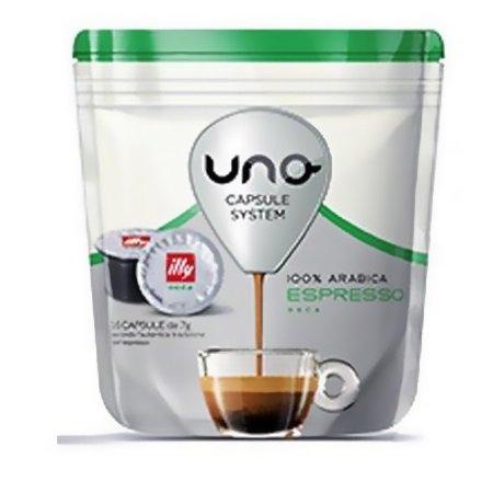Illycaffe' 16 capsule di caffè tostato macinato - 16 Capsule UNO system caffè Espresso Deca - 7582