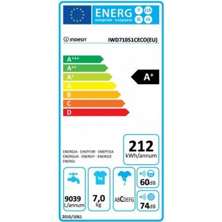 Indesit Lavatrice carica frontale 7 kg. - Iwc 71051 C Eco (eu)