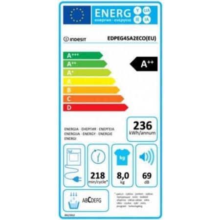 Indesit Asciugatrice a condensazione - Edpeg45a2ecoit