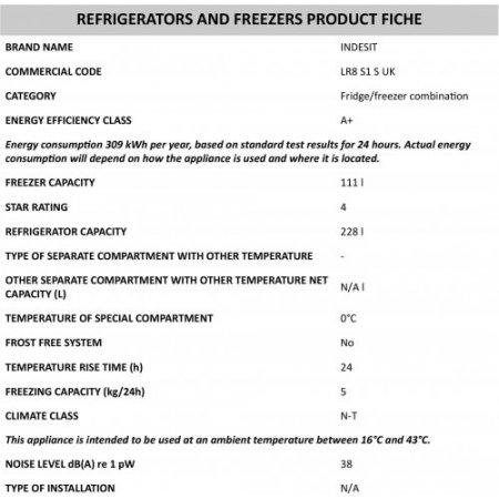 Indesit Frigo combinato 2 porte statico - Lr8 S1 S