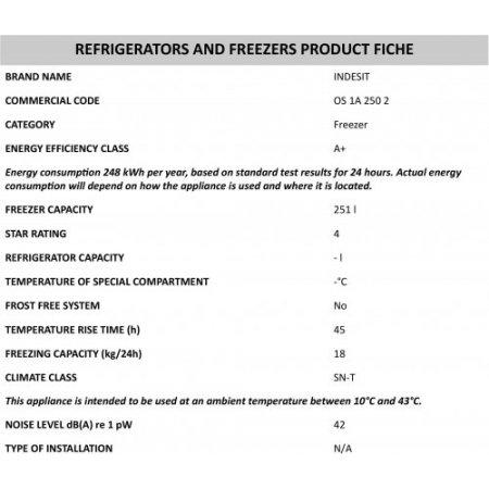 Indesit Congelatore orizzontale statico - Os 1a 250 2