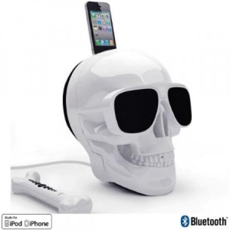 JM JARRE Docking Station per iPod/iPhone e Diffusore Bluetooth - AEROSKULL HD WHITE