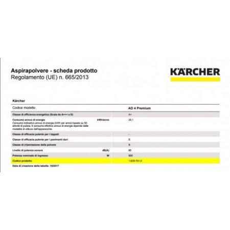 Karcher Bidone aspiratutto - Ad4 Premium Nero-giallo